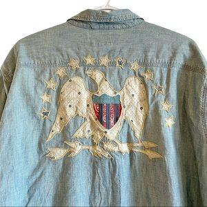 Denim & Supply Americana denim shirt with eagle